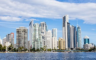 Surfers Paradise, Queensland - Surfers Paradise, as seen from Nerang River