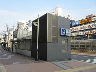 tram station and metro station in Sapporo, Hokkaido, Japan