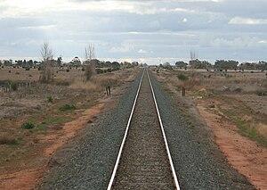 Piangil railway line - The line near Pyramid