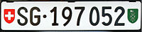 Switzerland licence plate 2007 from Sankt Gallen canton.jpg