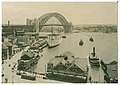Sydney ferries either KUTTABUL or KOOMPARTOO at Circular Quay and Sydney Harbour Bridge under construction late 1931 or early 1932.jpg