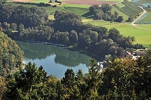Töss Valley - Tössegg, confluence of the Töss (to the left) and Rhine at Freienstein-Teufen