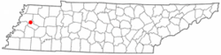 Location of Friendship, Tennessee
