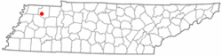 Location of Sharon, Tennessee