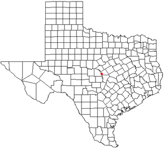 Bend, Texas - Location of Bend in the state of Texas.