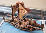 Tahiti, catamaran, model in the Vatican Museums.jpg
