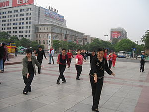 Tai Chi in the street, China, May 2007