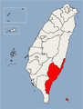 Taitung County Location Map.png