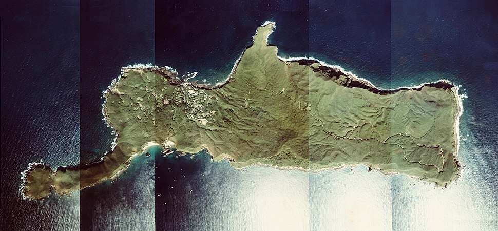 Takeshima Island Kagoshima Prefecture Aerial photograph.1977