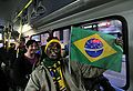 Taking the bus to Soccer City for Brazil & Ivory Coast match at World Cup 2010-06-20 12.jpg
