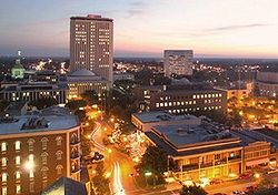 Skyline of Downtown Tallahassee at sunset