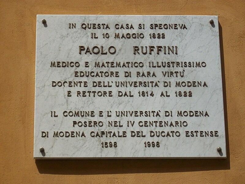 File:Targa a Paolo Ruffini.jpg