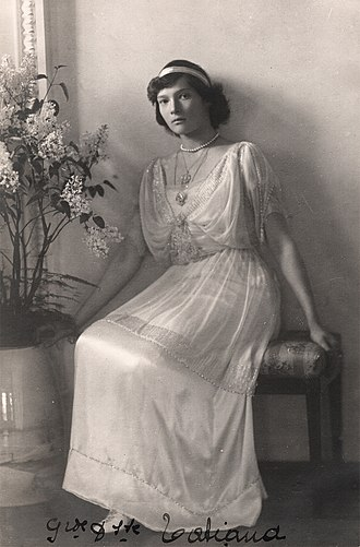 Grand Duchess Tatiana Nikolaevna of Russia - Grand Duchess Tatiana Nikolaevna, c. 1914