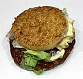 Teriyaki rice hamburger of McDonald's Japan.jpg