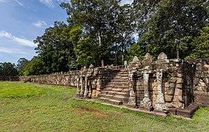 Terrace of the Elephants - The Terrace of Elephants, Angkor, Cambodia.