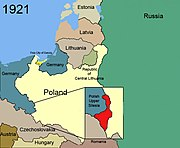 Territorial changes of Poland 1921