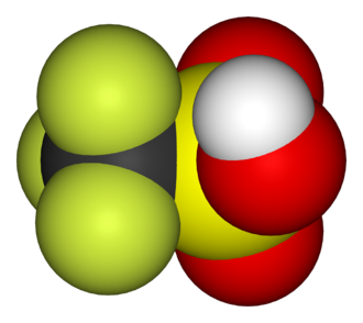 Triflic acid - Image: Tf OH 3D vd W