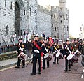 The ACF Corps of Drums heading the Caernarfon Remembrance Day Parade 2009 - geograph.org.uk - 1572794.jpg