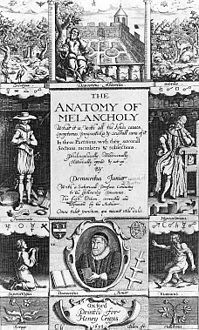 The Anatomy of Melancholy by Robert Burton frontispiece 1638 edition.jpg