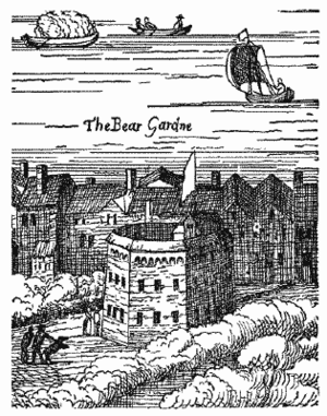 Beargarden - The Beargarden from Visscher's Map of London, published in 1616, but representing the city as it was several years earlier.