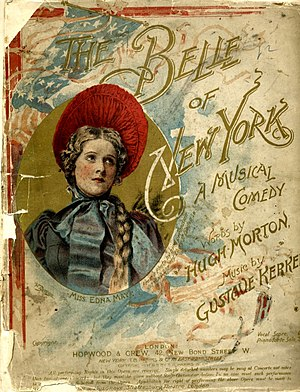 The Belle of New York (musical) - Vocal score