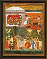 The Dance of Krishna. From manuscript Cur-Sagar of Surdas. Mewar, mid 17th century. Collection Gopi Krishna Kanoria, Patna..jpg
