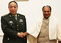 The Deputy Chief of General Staff of the Peoples' Liberation Army, China, General Ge Zhen-Feng called on the Defence Minister, Shri A. K. Antony, in New Delhi on December 04, 2009.jpg