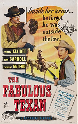 The Fabulous Texan - Theatrical release poster