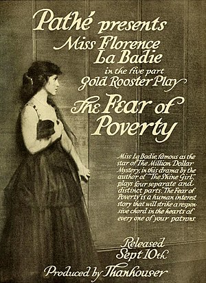 Florence La Badie - Image: The Fear of Poverty