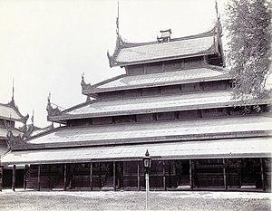 Hmannan Yazawin - The old Glass Palace at Mandalay Palace, similar to the one from the Inwa Palace