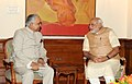 The Governor of Arunachal Pradesh, Lt. Gen. (Retd.) Nirbhay Sharma calling on the Prime Minister, Shri Narendra Modi, in New Delhi on June 07, 2014.jpg