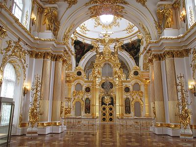 The Great Church of the Winter Palace in St. Petersburg, by Rastrelli (1753-1759) The Great Church of the Winter Palace in Saint Petersburg, iconostasis.JPG