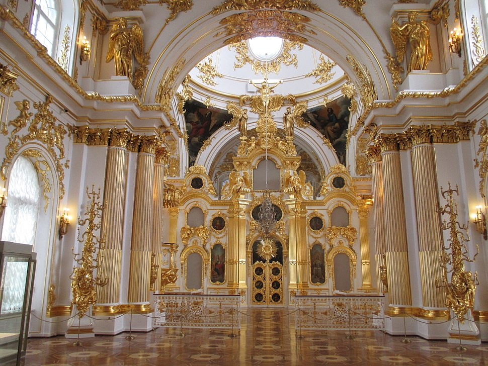 The Great Church of the Winter Palace in Saint Petersburg, iconostasis