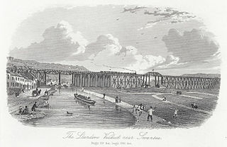 The Llandooe viaduct near Swansea: height 109 feet, lenght 1760 feet