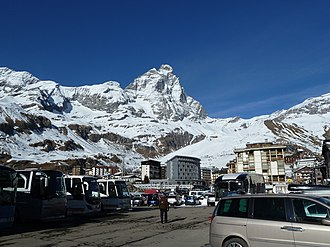 Breuil-Cervinia - Image: The Matterhorn from Breuil Cervinia