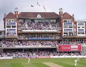 Wilfred Rhodes - The Pavilion at the Oval, the scene of Rhodes successes in 1902 and 1926. Although this is a modern picture, the pavilion is the same as it was when Rhodes played there.