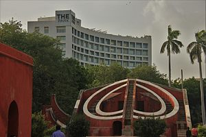 The Park Hotels - The Park Hotel in Delhi with Jantar Mantar in front.