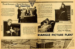 Triangle Film Corporation - Image: The Phantom 1916