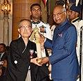 The President, Shri Ram Nath Kovind presenting the Padma Shri Award to Prof. Tomio Mizokami, at the Civil Investiture Ceremony-II, at Rashtrapati Bhavan, in New Delhi on April 02, 2018.jpg