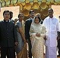The President, Smt. Pratibha Devisingh Patil visited Petals - Matri Mandir in Auroville near Puducherry on December 22, 2007.jpg