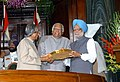 The President Dr. A.P.J. Abdul Kalam giving away the Outstanding Parliamentarian Award for the year 2002 to the Prime Minister, Dr. Manmohan Singh in New Delhi on March 21, 2005.jpg