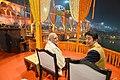 The Prime Minister, Shri Narendra Modi and the Prime Minister of Japan, Mr. Shinzo Abe witnessing the Ganga Aarti at Dashashwamedh Ghat, in Varanasi, Uttar Pradesh on December 12, 2015.jpg