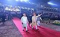 The Prime Minister, Shri Narendra Modi arrives at Haryana Swarna Jayanti Celebrations, in Gurugram, Haryana (2).jpg