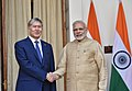The Prime Minister, Shri Narendra Modi meeting the President of the Republic of Kyrgyzstan, Mr. Almazbek Sharshenovich Atambayev, at Hyderabad House, in New Delhi on December 20, 2016.jpg