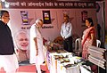 The Prime Minister, Shri Narendra Modi visiting an exhibition on traditional handloom and agriculture, at Janjgir-Champa, in Chhattisgarh.JPG