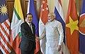 The Prime Minister, Shri Narendra Modi with the Prime Minister of the Kingdom of Cambodia, Mr. Samdech Akka Moha Sena Padei Techo Hun Sen, at Rashtrapati Bhavan, in New Delhi on January 25, 2018.jpg
