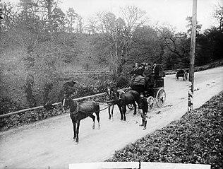 The Royal Mail coach, Newcastle Emlyn