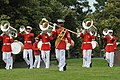 The U.S. Marine Drum and Bugle Corps performs during the Sunset Parade June 5, 2012, at the Marine Corps War Memorial in Arlington, Va 120605-M-MI461-301.jpg