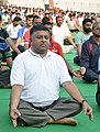The Union Minister for Electronics & Information Technology and Law & Justice, Shri Ravi Shankar Prasad performing Yoga, on the occasion of the 4th International Day of Yoga 2018, in Patna on June 21, 2018.JPG