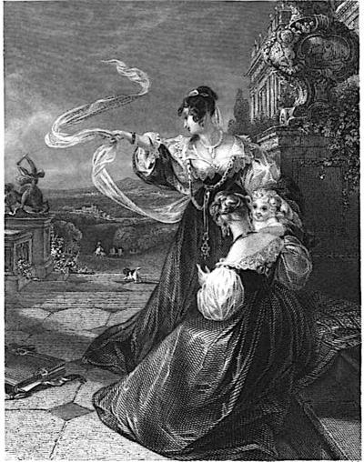 Poems Of Letitia Elizabeth Landon L E L In The Cabinet